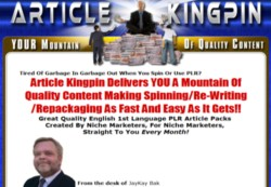 ArticleKingpin.com Membership Pays 75% Recurring Affiliate Commissions For 6 Months