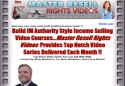 MasterResellRightsVideos.com Membership Pays 75% Recurring Affiliate Commissions