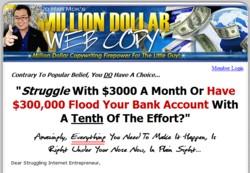 TheMillionDollarWebcopy.com Membership Pays 75% Affiliate Commissions