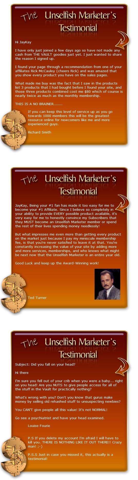 unselfish marketer testimonials 2