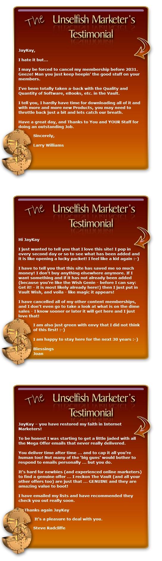 unselfish marketer testimonials 3
