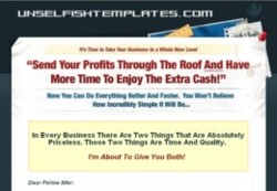 UnselfishTemplates.com Membership Pays 75% Recurring Commissions For 9 months